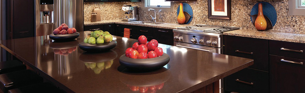 Erskine Interiors offers a variety of surfaces, from Quartz to granite to engineered stone and wood.