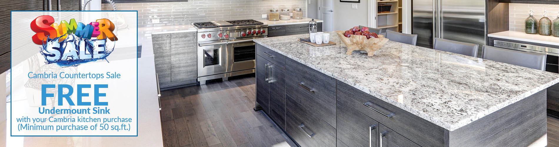 Free Undermount Sink With Your Cambria Kitchen Countertop Purchase During  The Summer Sale At Erskine Interiors ...