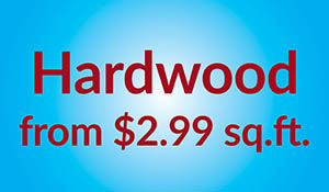 Hardwood on sale from $2.99 sq.ft. during the Summer Sale at Erskine Interiors!