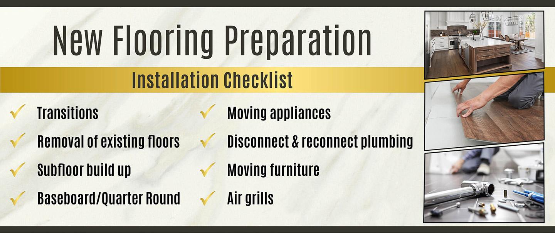 New flooring preparation - installation checklist