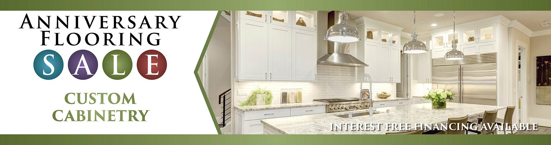Custom Cabinetry Event - Interest Free Financing Available during our sale event at Erskine Interiors.