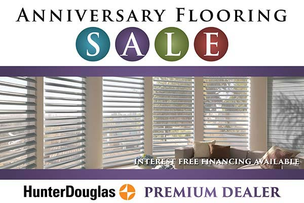 Interest Free Financing available on Hunter Douglas during our Sale Event at Erskine Interiors!